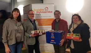 Spendenübergabe Soziales Wohnservice
